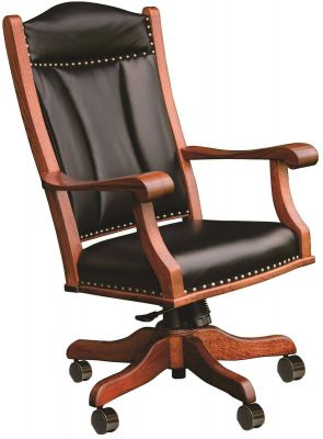 Prairie Desk Chair with leather