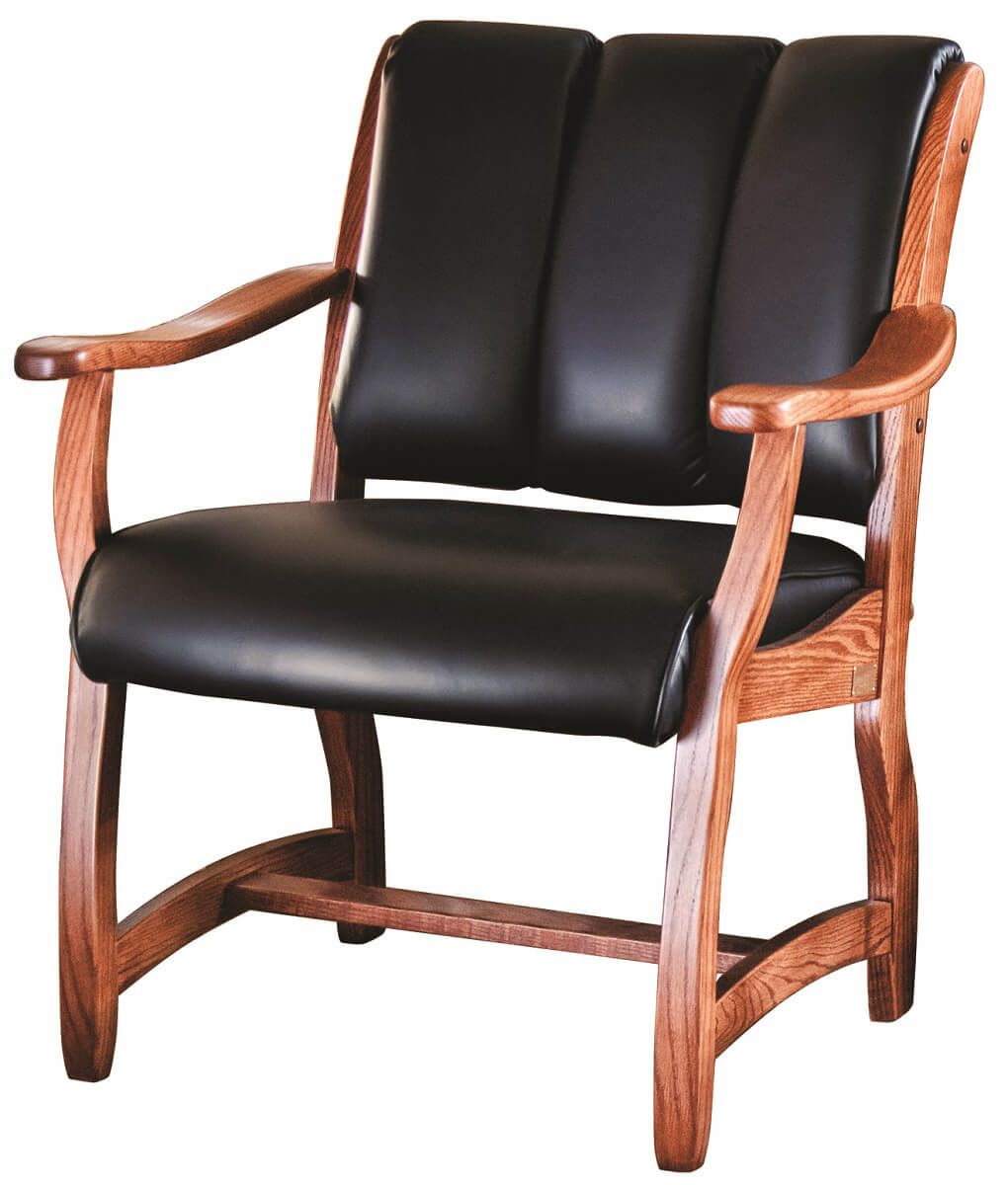 Roslyn Client Chair with Leather Upholstery