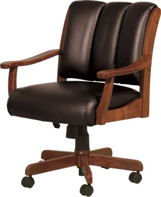 Roslyn Office Chair with Black leather