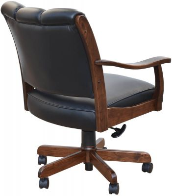 Upholstered Back of Office Chair