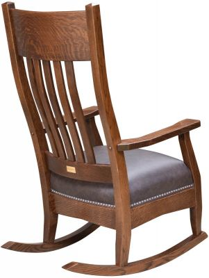 Solid Wood Amish Rocking Chair Back