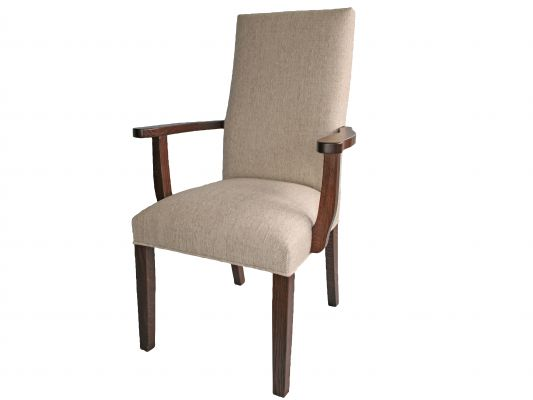 Crescent Upholstered Dining Chairs Countryside Amish