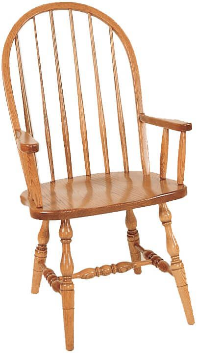 Arm Chair with Turned Base