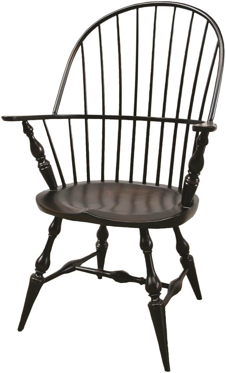 Hardwood Windsor Arm Chair