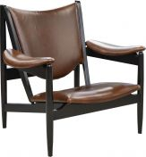 Poland Leather Arm Chair