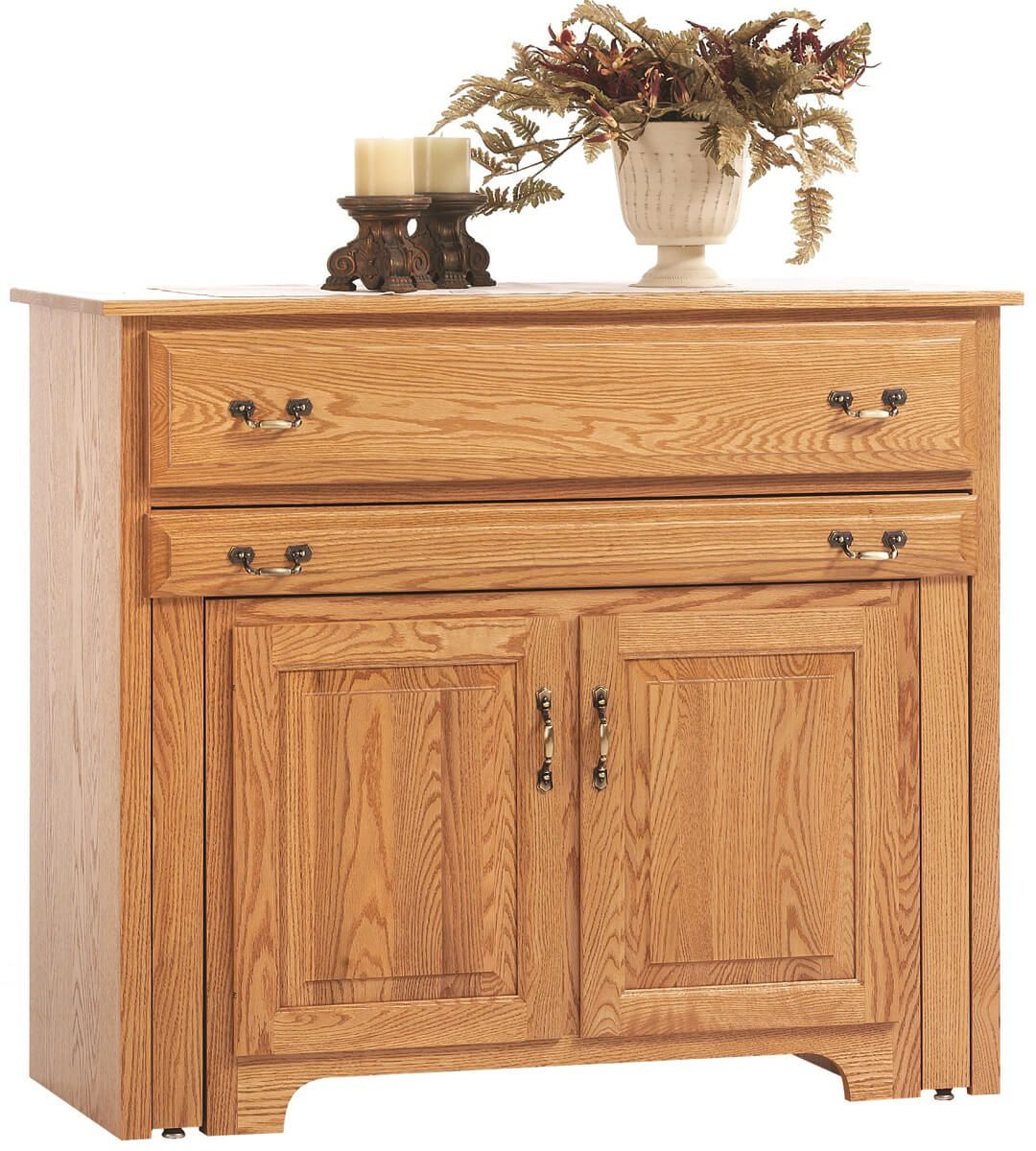 everett pullout console table with hutch countryside amish furniture available as a buffet only