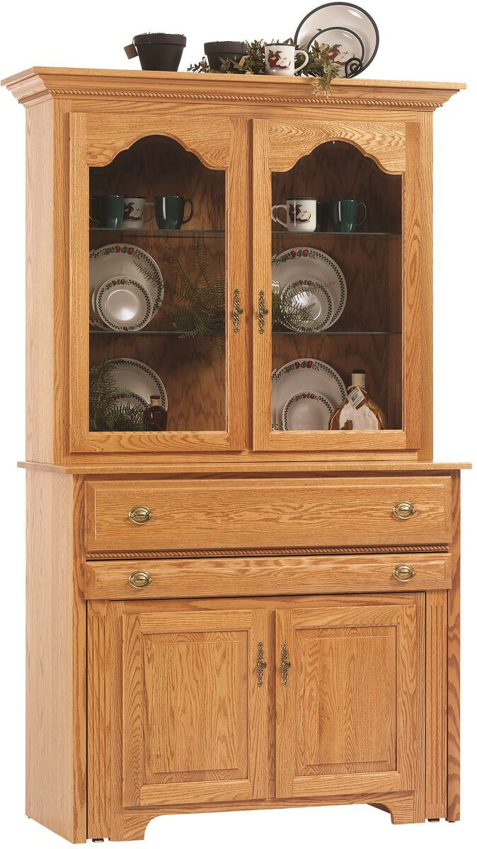 mission pullout console table w hutch