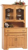 Everett Pullout Console Table with Hutch