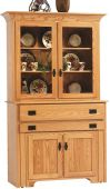 Flintt Pullout Console Table with Hutch