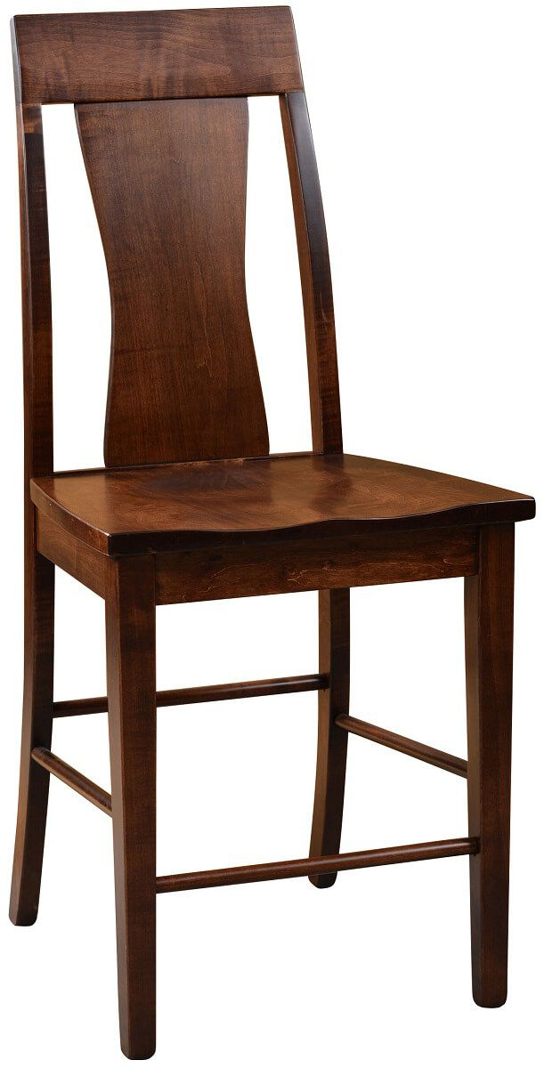 Baltimore Bar Height Chair in Brown Maple