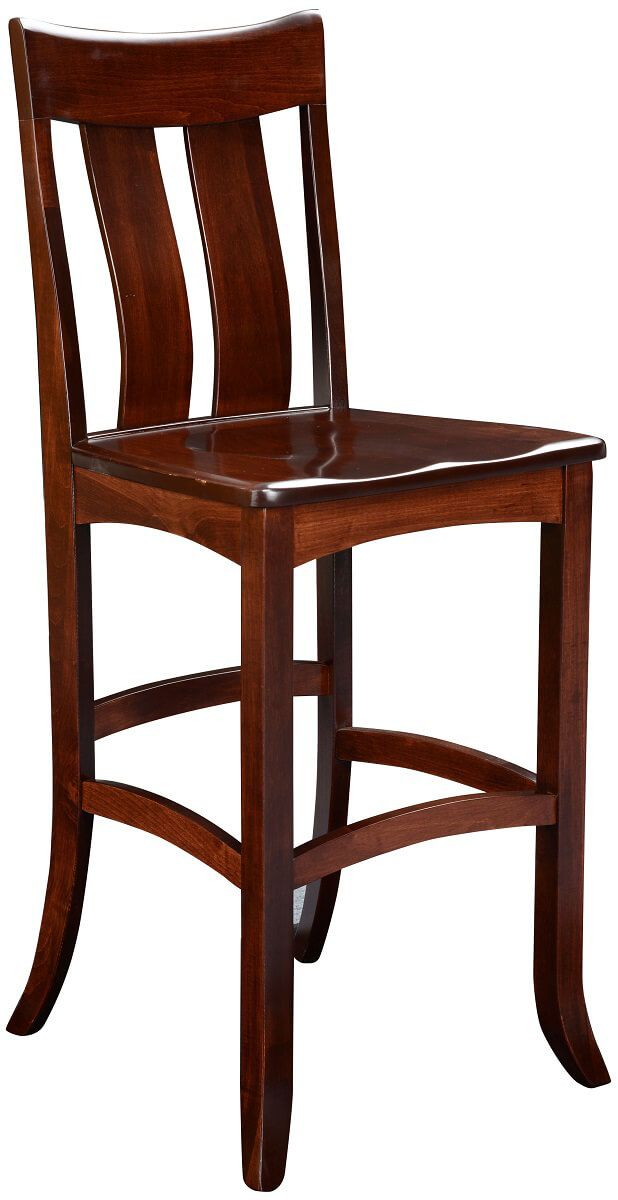 Benezet Pub Stool in Solid Wood