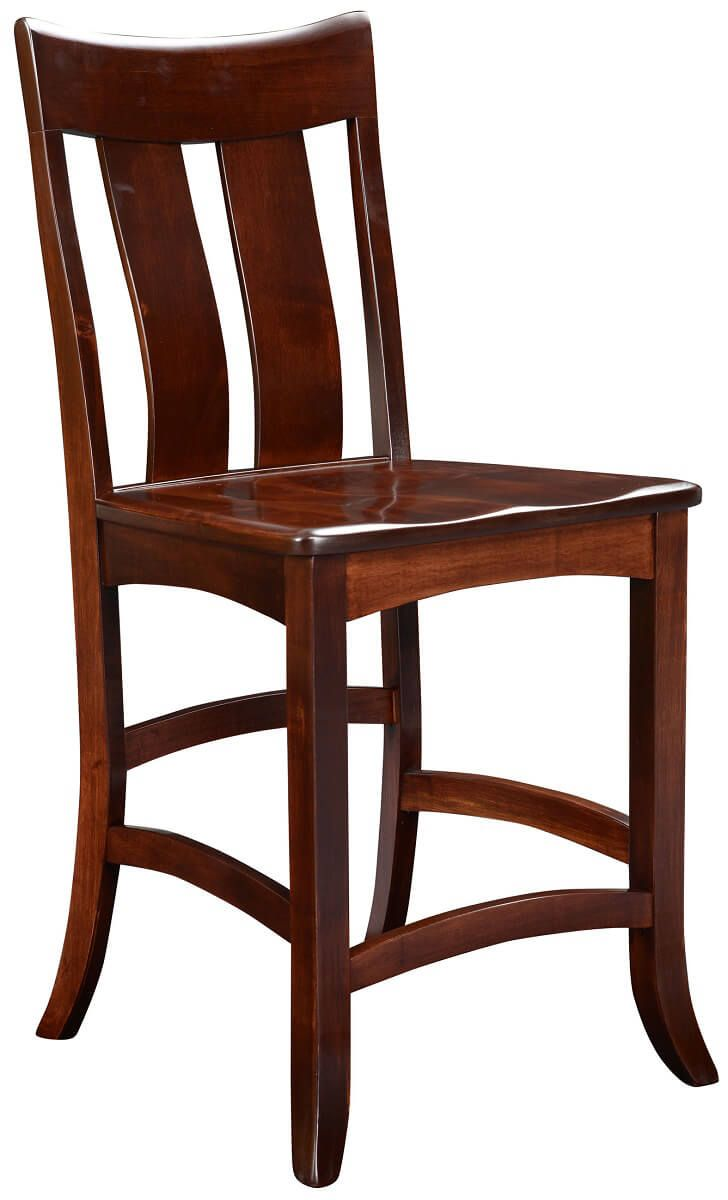 Benezet Counter Stool in Solid Wood