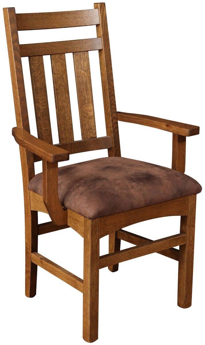 Biloxi Arm Chair with Upholstered Seat