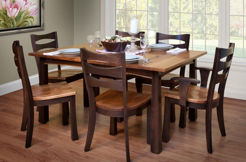 Sensational Carthage Expandable Dining Table Set Countryside Amish Customarchery Wood Chair Design Ideas Customarcherynet
