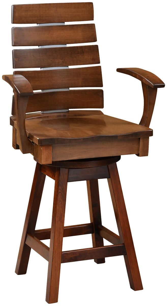 Amish Dacosta Swivel Barstool