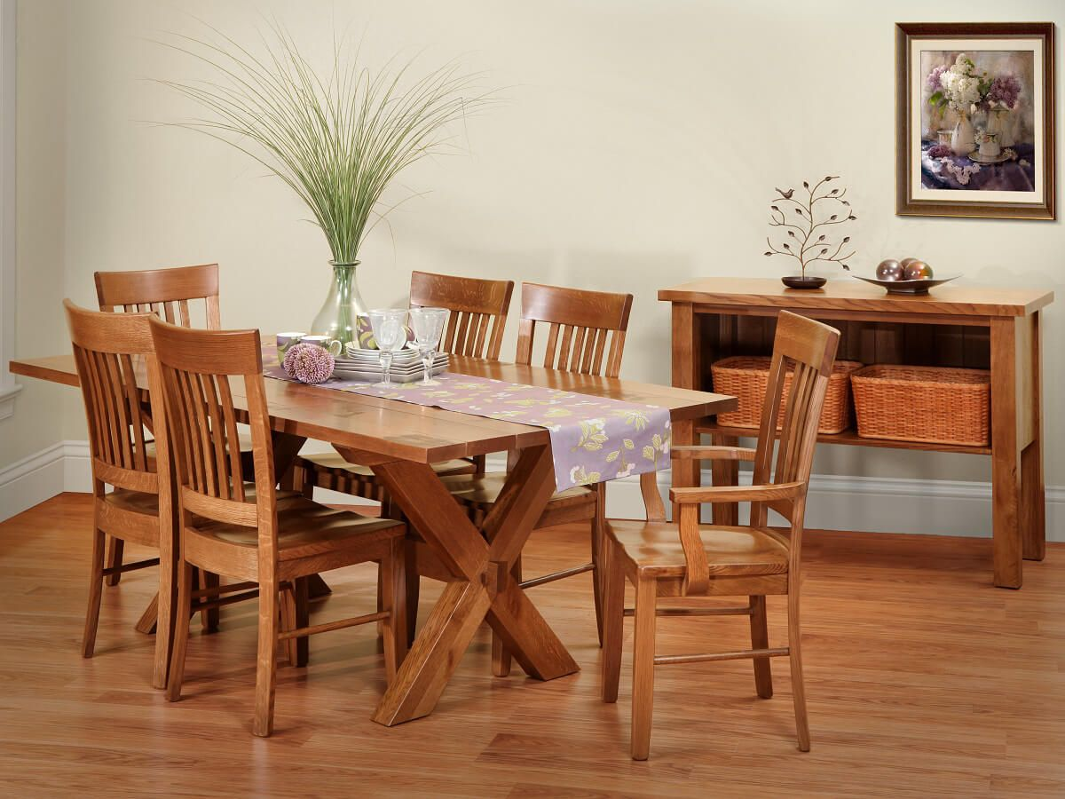 Jonesborough Rustic Farmhouse Table - Countryside Amish Furniture