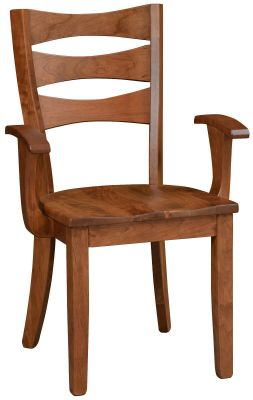 Pleasing Kenai Modern Ladder Back Dining Chairs Countryside Amish Furniture Download Free Architecture Designs Grimeyleaguecom