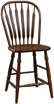 Mississippi Paddle Back Bistro Stool in Oak