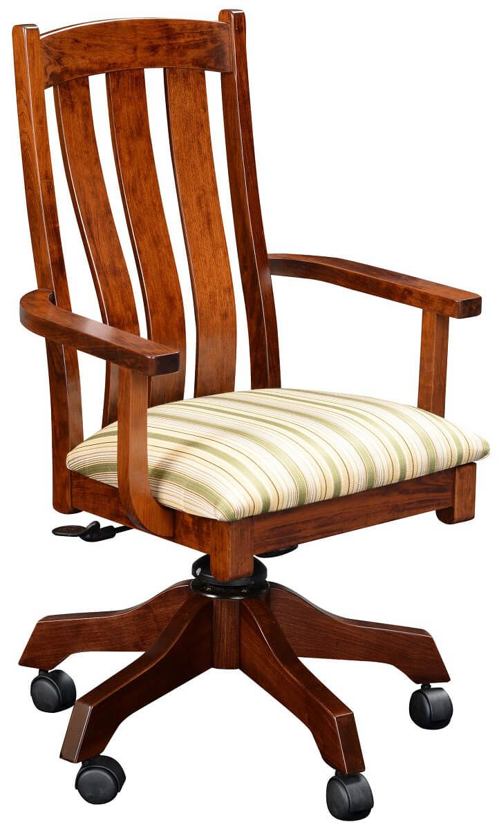 Newark Upholstered Solid Wood Desk Chair