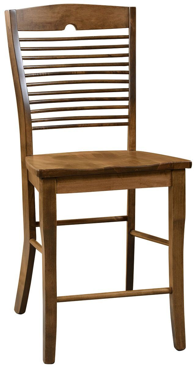 Seattle Solid Wood Pub Stool Countryside Amish Furniture