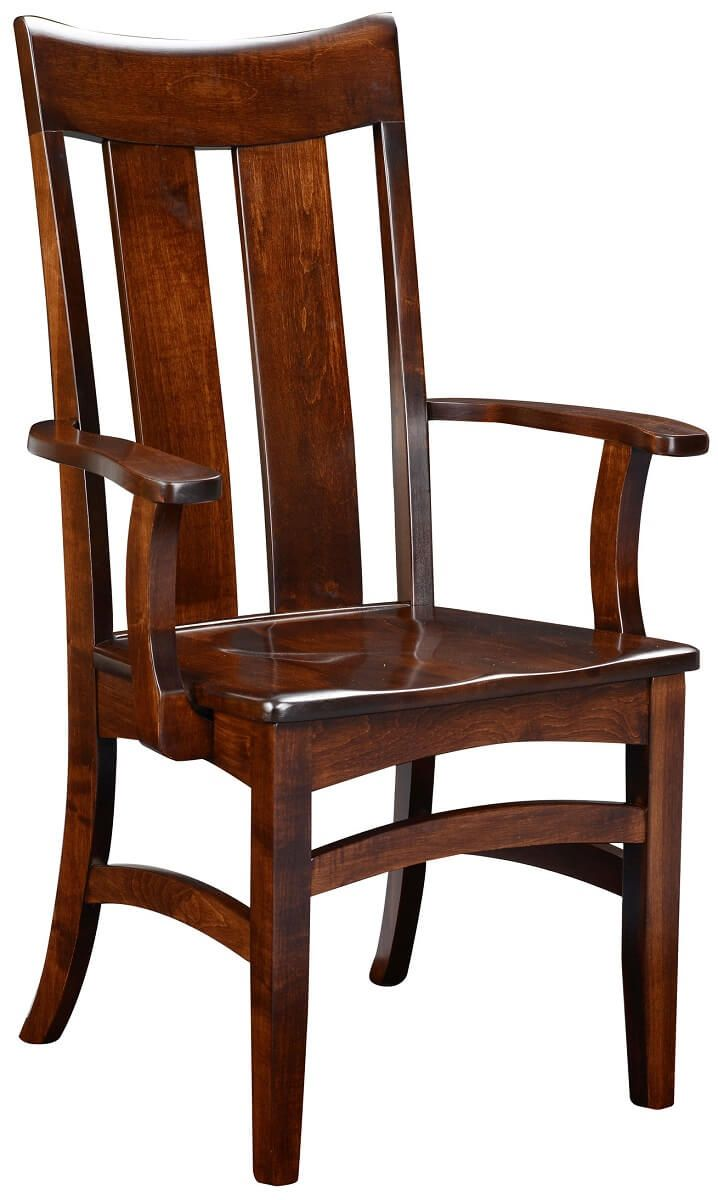 Brown Maple Arm Chair