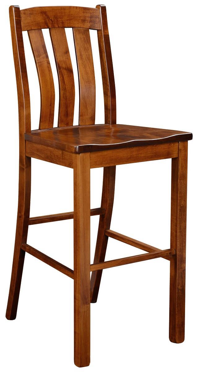 Bar Height Brown Maple Chair
