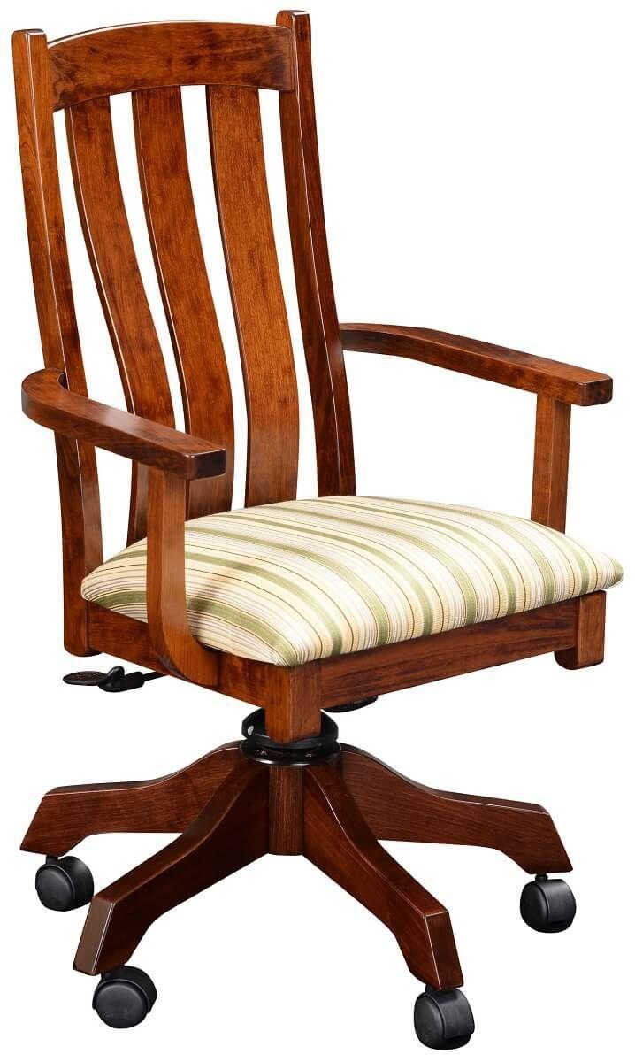Newark Upholstered Solid Wood Desk Chair