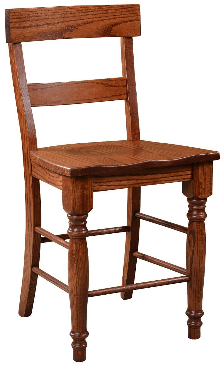 Osteria Solid Wood Bar Chair shown in Oak