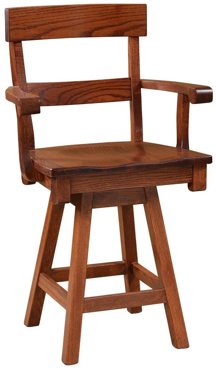 Osteria Solid Oak Swivel Bistro Chair