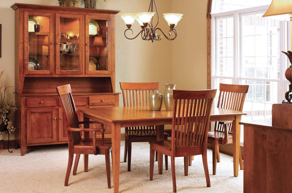 Lydney Shaker Dining Set Countryside Amish Furniture