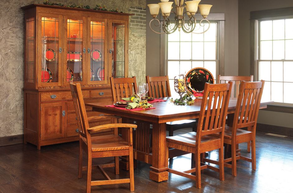 Acapulco Mission Dining Set image 1