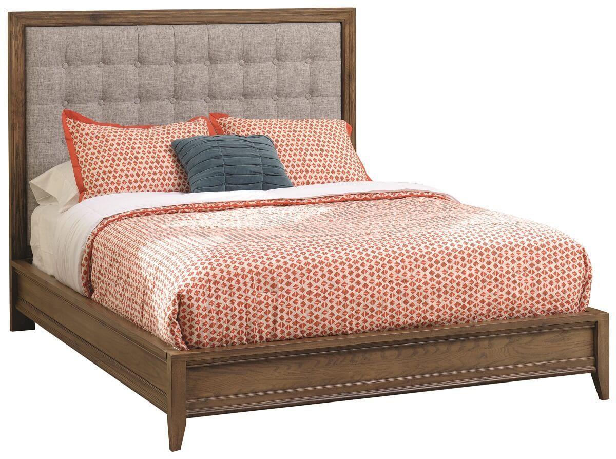 Azalia Modern Upholstered Bed Countryside Amish Furniture