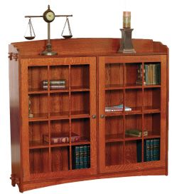 Bryson City Bookcase With Doors