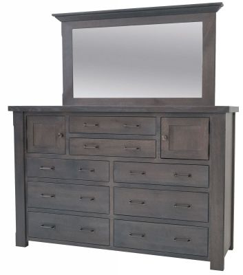 New Milton Dresser with Mirror - Countryside Amish Furniture
