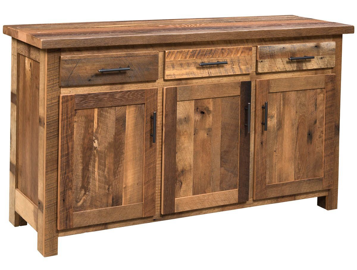 Barnwood Buffet Table