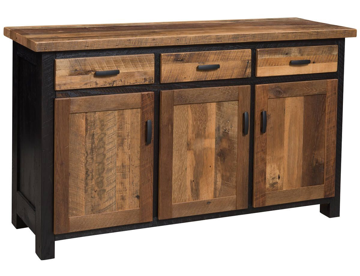 Two-Toned Barnwood BUffet