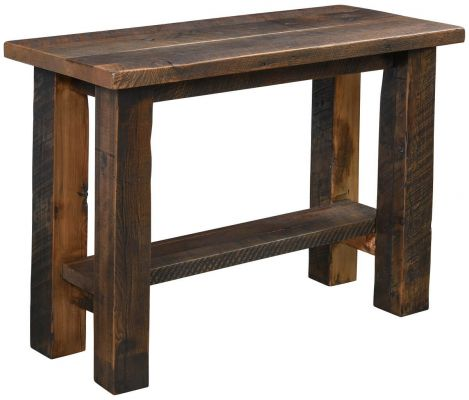 Flagstaff Reclaimed Sofa Table Countryside Amish Furniture