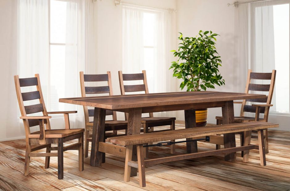 Gonzales Barnwood Dining Set Countryside Amish Furniture