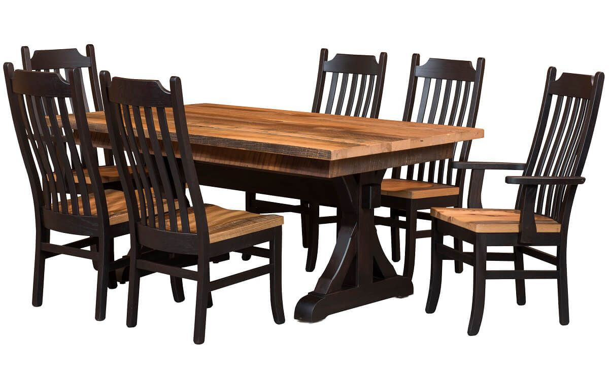 Amish Barnwood Table and Chairs