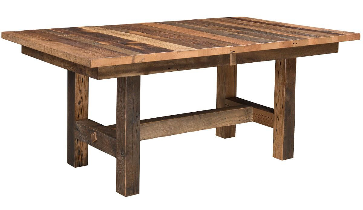 Juneau Reclaimed Trestle Table