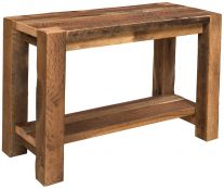 Page 1 5 solid wood sofa and console tables for Portland reclaimed wood furniture