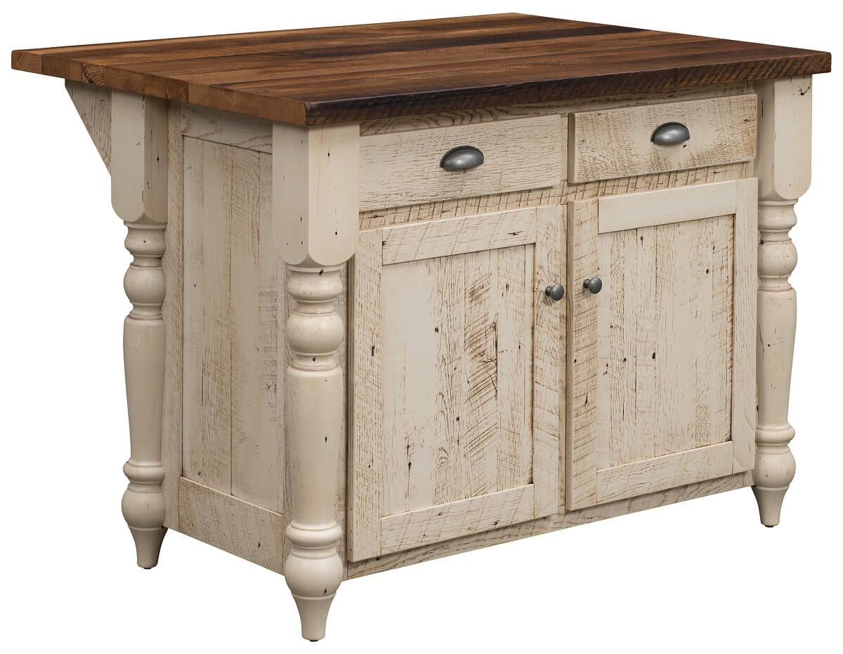 Friars Point Reclaimed 2-Drawer Island