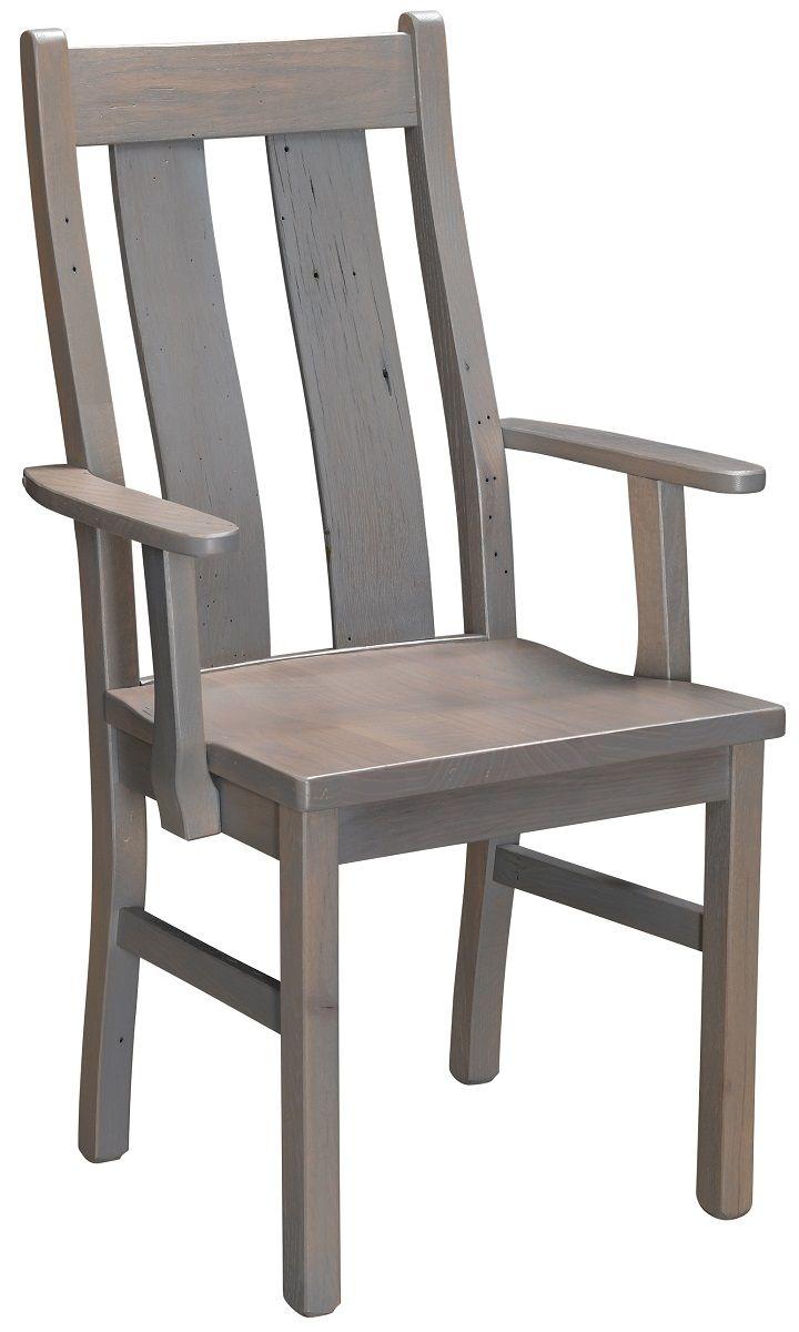 Lamar Reclaimed Kitchen Arm Chair