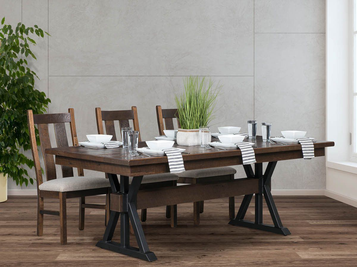 Lepanto Reclaimed Trestle Table and Side Chairs
