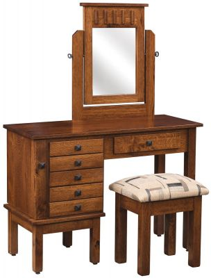 Bolivia Mission Dressing Table Countryside Amish Furniture