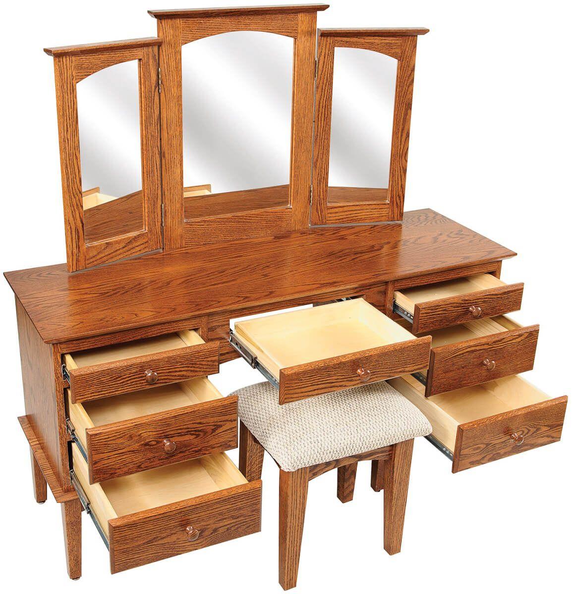 Duxberry Vanity Dresser Open