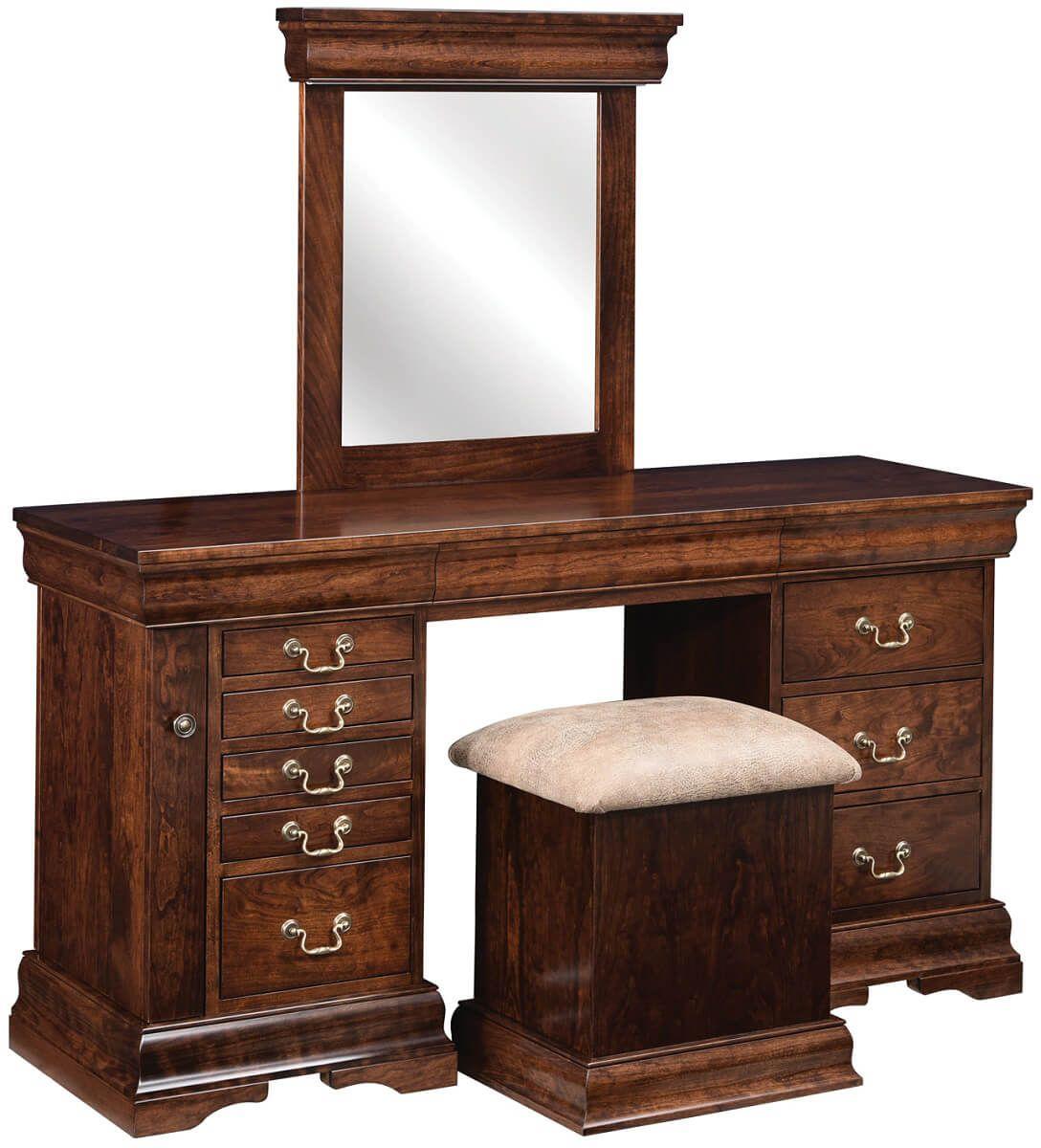 Glenburn Vanity Dresser and Bench