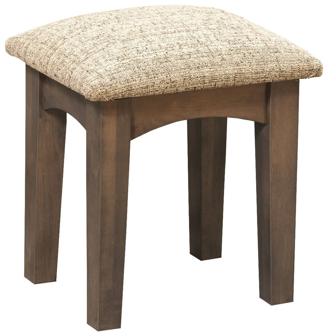 Brown Maple Vanity Bench