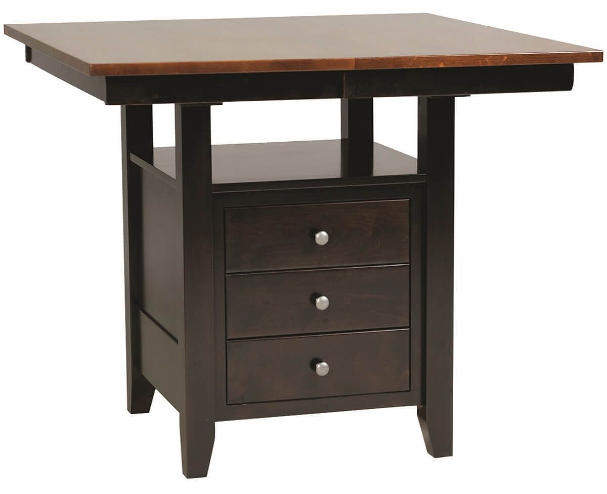 Amish Bistro Table with Drawers