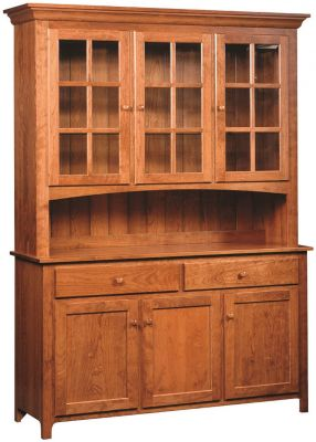 Elisee Shaker Buffet with Hutch in Cherry